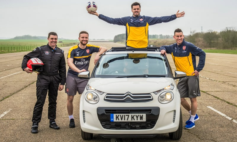 Citroen C1 Stunt with Arsenal FC
