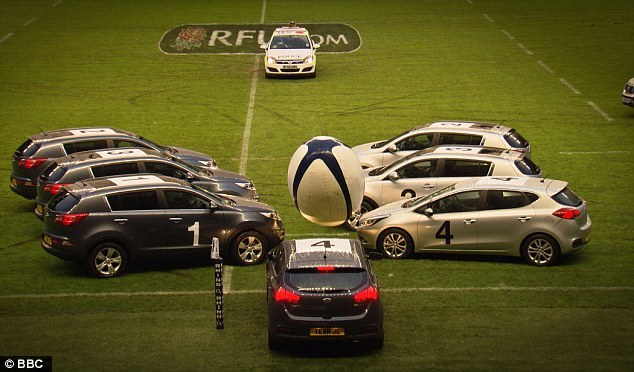 Swift Team Feature in Top Gear Car Rugby.